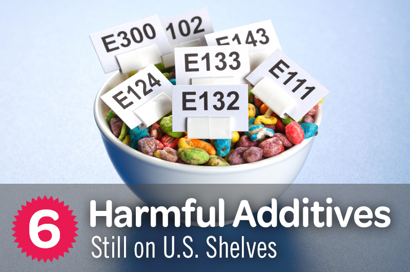 6 harmful additives still on U.S. shelves bowl of colorful cereal with food dye codes