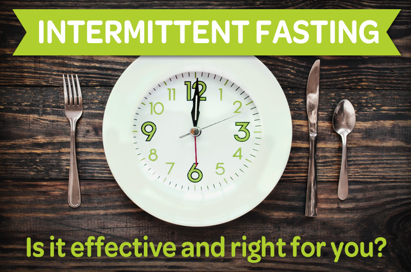 intermittent fasting: is it effective and right for you? empty plate with clock
