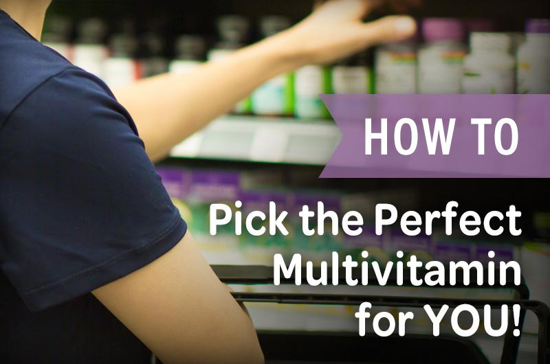 How to pick the perfect multivitamin for you person reaching for out of focus dietary supplements