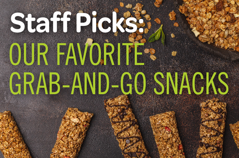 staff picks: our favorite grab-and-go snacks granola bars