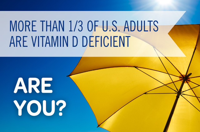 more than a third of u.s. adults are vitamin d deficient are you sun and yellow umbrella