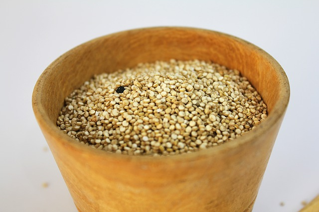 amaranth grain in wooden bowl ancient grain