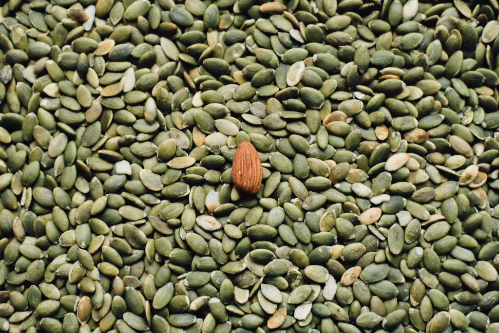 pumpkin seeds contain tryptophan and may increase serotonin
