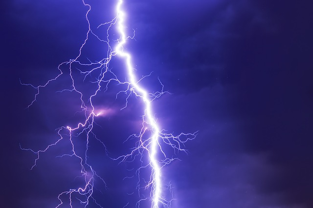 lightning in dark stormy sky symbolic of seizure
