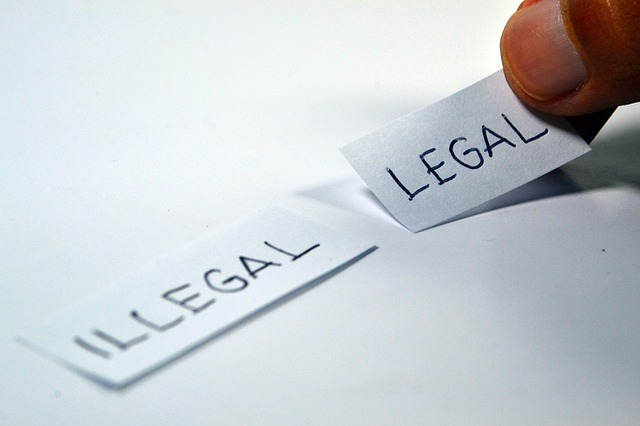 illegal vs legal slips of paper being picked up
