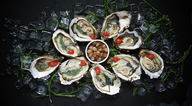 fancy oysters on ice
