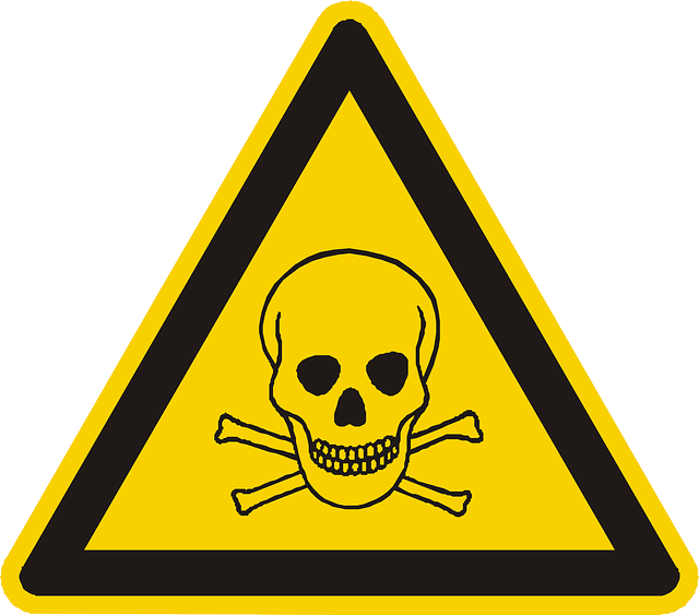 skull and crossbones warning label