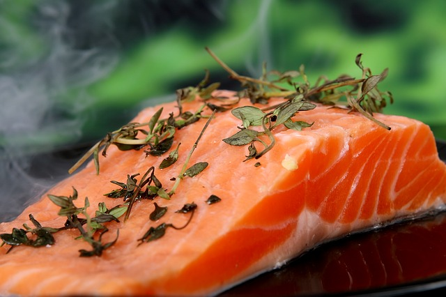 salmon contains vitamin D as supplement for immune health