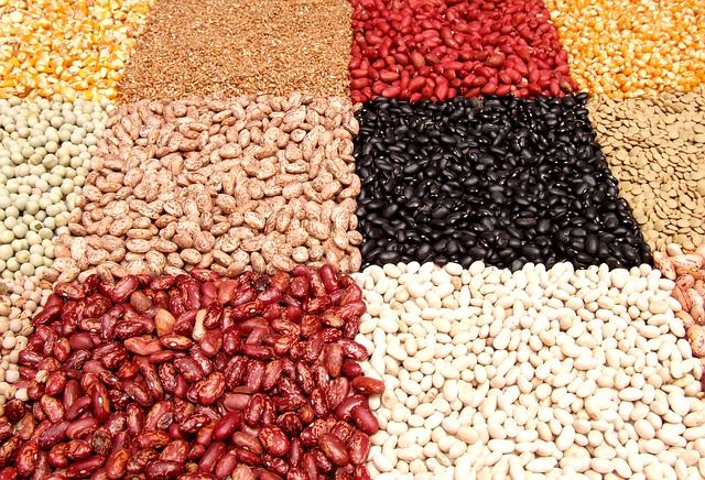 grid of colorful legumes