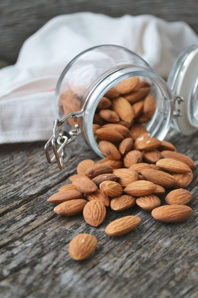 raw almonds for homemade plant-based non-dairy milk